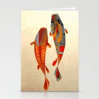 community Stationery Cards featuring Kolors Koi by Fernando Vieira
