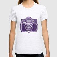 I Still Shoot Film Holga Logo - Deep Purple Womens Fitted Tee Ash Grey SMALL
