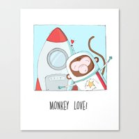 Monkey love Canvas Print
