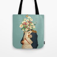 Tote Bag featuring The Happy Gentleman by Budi Kwan