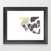 Cat Bubbles Framed Art Print