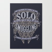 Solo Smuggling Canvas Print