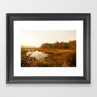 Autums Peaceful Tomorrow - New England Fall Landscape Framed Art Print