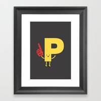 Go Pee! Framed Art Print