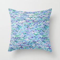 Marble Mosaic in Sapphire and Emerald Throw Pillow