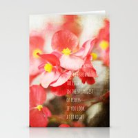 Scarlet Begonias Stationery Cards