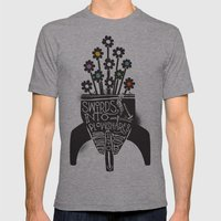 Swords Into Plowshares Mens Fitted Tee Athletic Grey SMALL