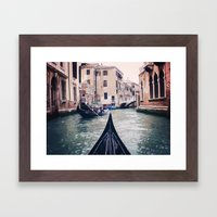 Venice by Gondola Framed Art Print