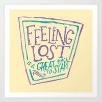 Feeling Lost Art Print