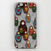 Matryoshki pattern iPhone & iPod Skin
