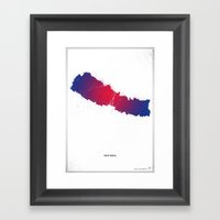 Help Nepal  Framed Art Print