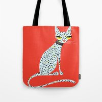 Wild House Cat Tote Bag
