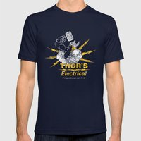 Thor - Thor's Electrical Mens Fitted Tee Navy SMALL