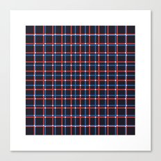 #206 Tartan (two overlapping grids) – Geometry Daily Canvas Print