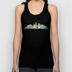 Park Slope Skyline (Color) Unisex Tank Top