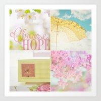 Choose HOPE Collage Art Print
