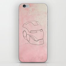 One line Iron Man iPhone & iPod Skin