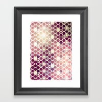 Stars Pattern #002 Framed Art Print