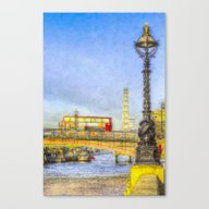 London Bus And London Ey… Canvas Print
