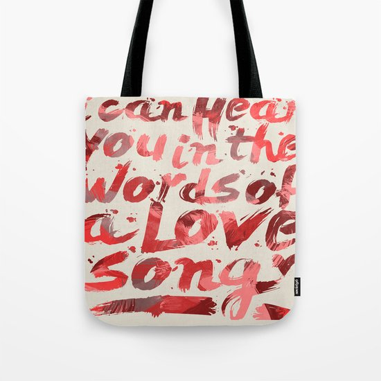words of a love song Tote Bag
