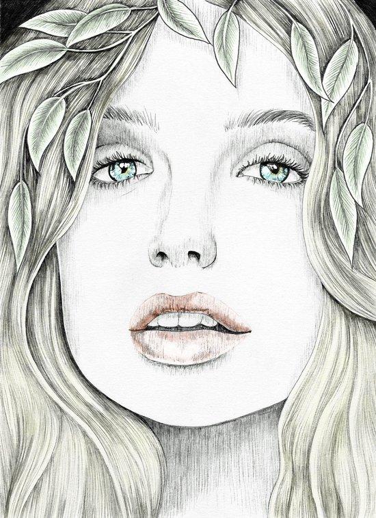 Through my Eyes - colour version Art Print