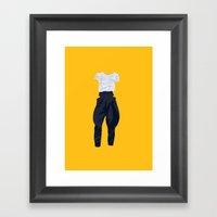 Horse Pants Framed Art Print