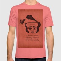 Poe insane Mens Fitted Tee Pomegranate SMALL