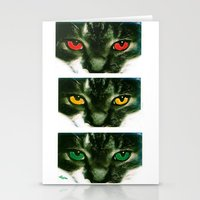 CAT CROSSING Stationery Cards