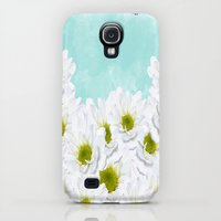 Galaxy S4 Cases featuring Summer Day Floral by Judy Palkimas