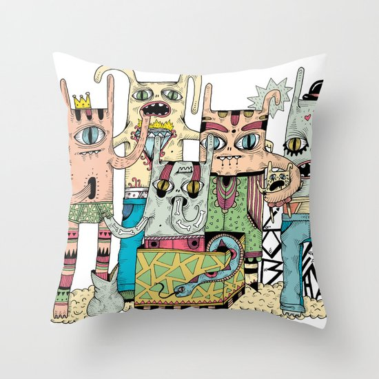 Gangsta Family Throw Pillow
