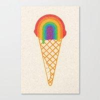 Rainbow Scoop Canvas Print