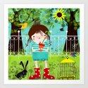 Emma in the Garden Art Print