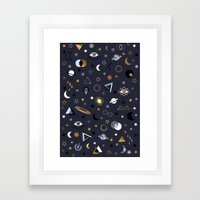 Galaxy ( Gold And Silver… Framed Art Print