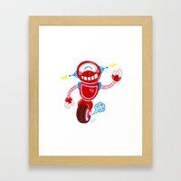 Red Robot Framed Art Print