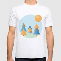 Tree Stitches Mens Fitted Tee Ash Grey SMALL