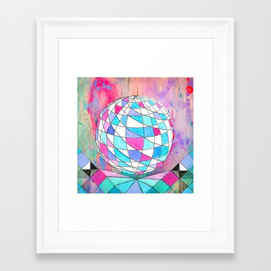 In Space. Framed Art Print