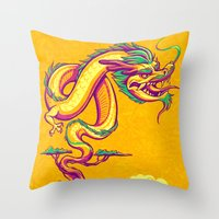 Bonsai Dragon Throw Pillow