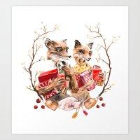 The Fantastic Foxes Art Print