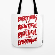 Tote Bag featuring Beautiful by WRDBNR