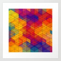 Cuben Intense No.1 Art Print