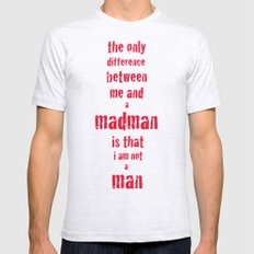 Madman Mens Fitted Tee Ash Grey SMALL