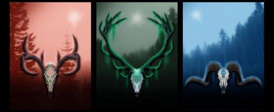 W Horns Art Print