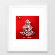 Happy Holidays - Christm… Framed Art Print