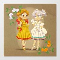 Retro Sailor Galaxia & Cosmos Canvas Print