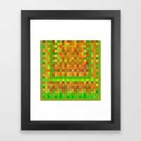 Wild Red Blocks And Dots Framed Art Print