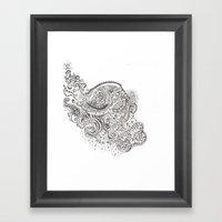 Lion In My Closet Framed Art Print