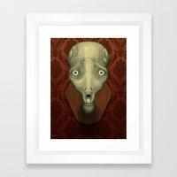 Shocked Alien Framed Art Print