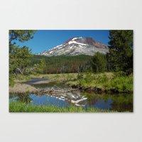 South Sister Mountain, C… Canvas Print