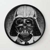 Darth Vader portrait #2 Wall Clock