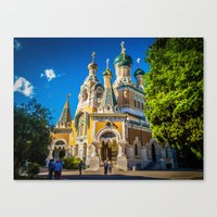 Russian Orthodox Cathedral, Nice France Canvas Print